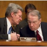 Sen. Finance Committee Chairman Max Baucus (D-Mont.), left, along with Sen. Chuck Grassley (R-Iowa)