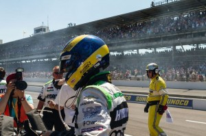 KVSH Racing's Sebastien Bourdais at the 2014 Indy 500.